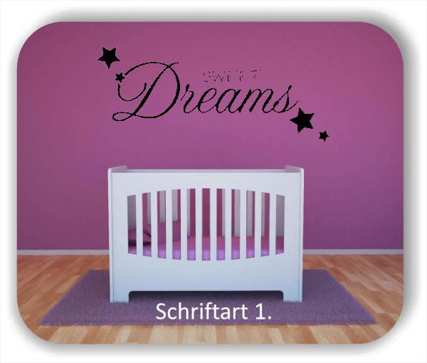 Wandtattoos - Süße Träume - Sweet Dreams