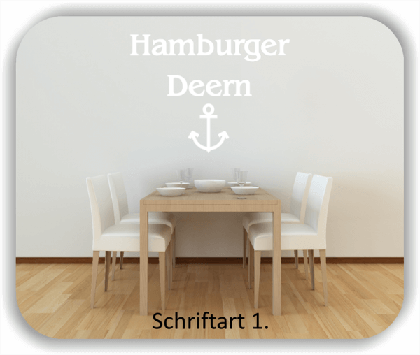 Wandtattoos Spruch - Hamburger Deern
