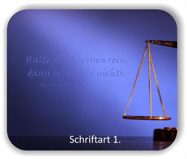 Wandtattoos - Sprüche & Zitate - Halte das Gewissen rein...