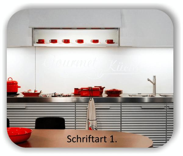Wandtattoos Küche – Spruch Gourmet Küche
