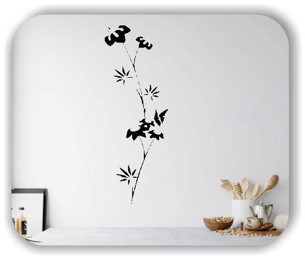 Florale Wandtattoos Japan Motiv - ab 20x60 cm - Motiv 3275