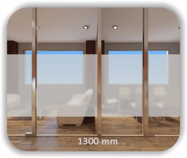 Milchige Sichtschutzfolie / Durchlaufschutzfolie - Höhe: 130 cm - Streifen