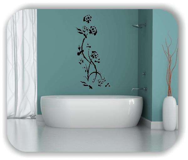 Ornamente China Floral - Wandtattoo - ab 50x97,5 cm - Motiv 3186