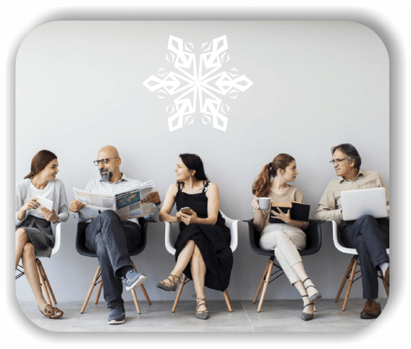 Snowflakes Wandtattoos - Schneeflocke - ab 50x43 cm - Motiv 2576