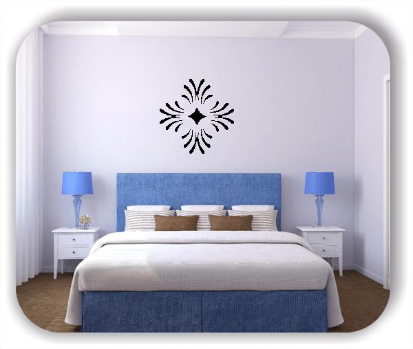 Wandtattoos Florale Dingbats - ab 50x50 cm - Motiv 4103