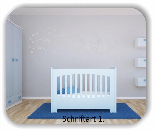 Wandtattoos - Sprüche & Zitate - Schäfchen zählen