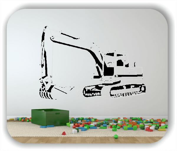Wandtattoos Fahrzeuge - ab 50x34 cm - Bagger