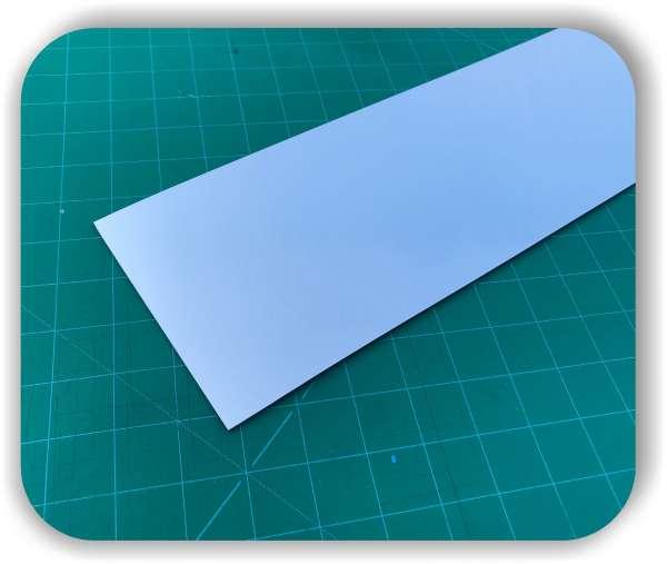 Polystyrol Platte mit Spiegel - Größe individuell