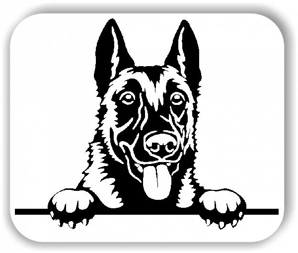 Wandtattoos Tiere - Hunde - Malinois 1 - ohne Rassename