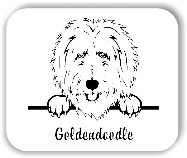 Wandtattoos Tiere - Hunde - Goldendoodle