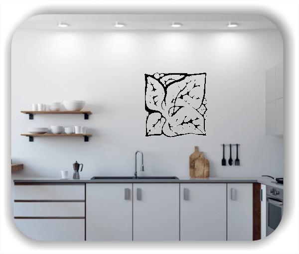 Wandtattoos Florale Silhouetten - Motiv 11