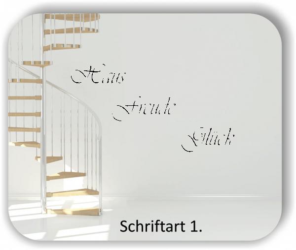 Wandtattoos - Sprüche & Zitate - In ein Haus, in dem die Freude...