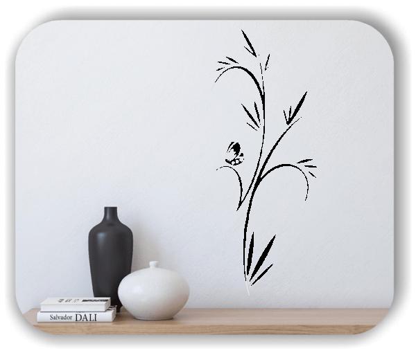 Florale Wandtattoos Japan Motiv - ab 25x60 cm - Motiv 3254
