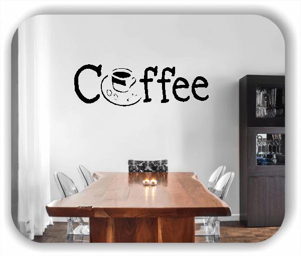 Wandtattoos Spruch Küche - Coffee - mit Tasse