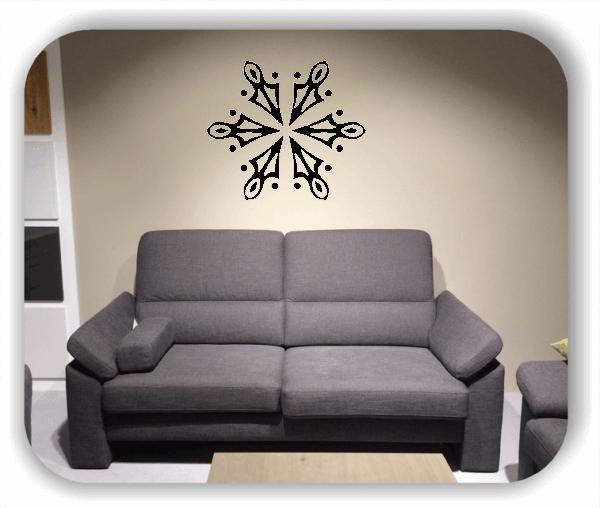 Snowflakes Wandtattoos - Schneeflocke - ab 50x43 cm - Motiv 2568