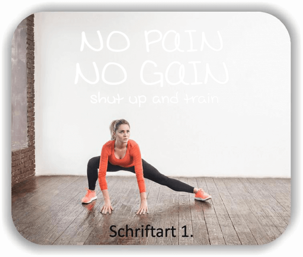 Wandtattoos Spruch - No pain No gain