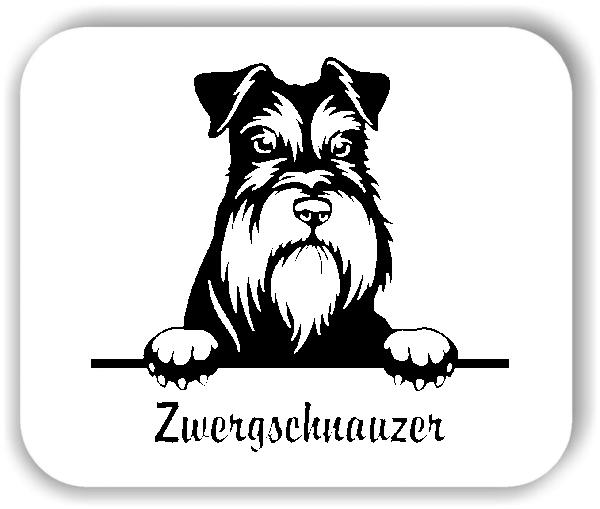 Wandtattoos Tiere - Hunde - Zwergschnauzer
