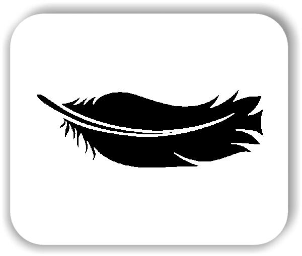 Feder Wandtattoo - VPE: 1 Stück - Motiv 6
