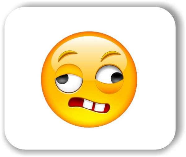 Strichgesicht - Emoticon - Verzogenes Gesicht