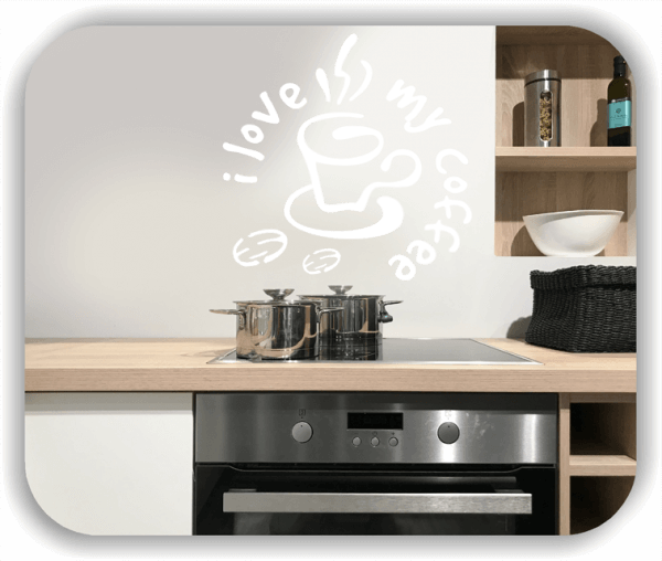 Wandtattoos Spruch Küche - i love my coffee