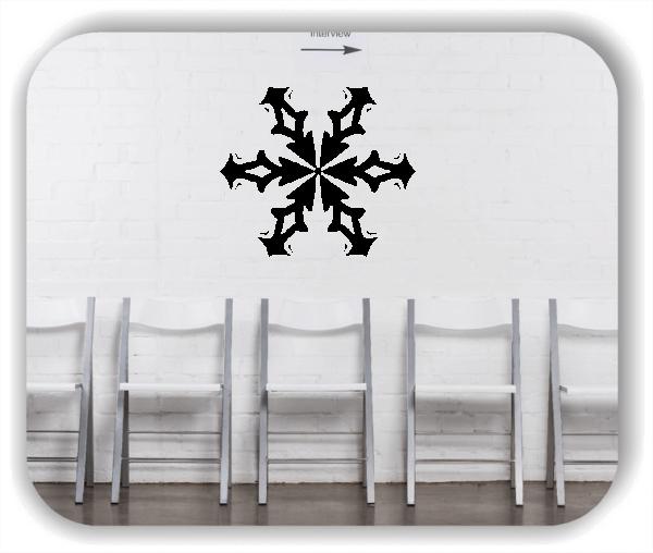 Snowflakes Wandtattoos - Schneeflocke - ab 50x43 cm - Motiv 2579