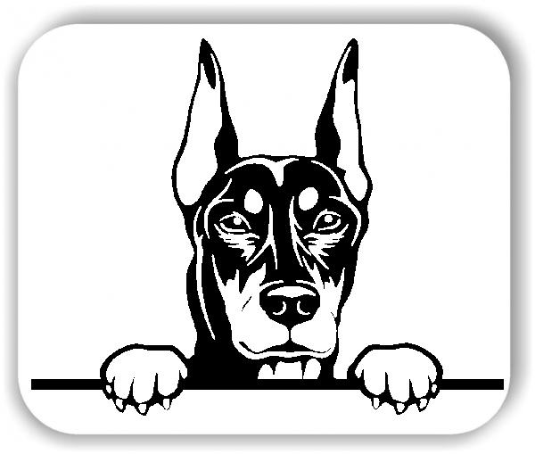 Wandtattoos Tiere - Hunde - Dobermann Variante 3 - ohne Rassename