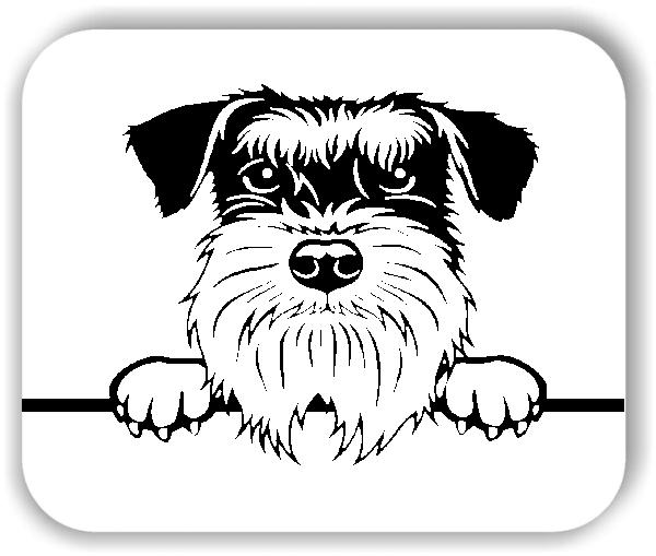Wandtattoos Tiere - Hunde - Schnauzer - ohne Rassename