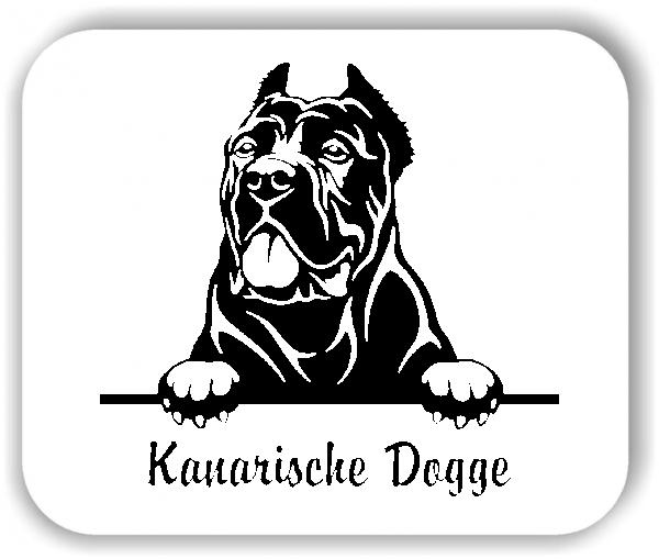 Wandtattoos Tiere - Hunde - Kanarische Dogge Variante 2