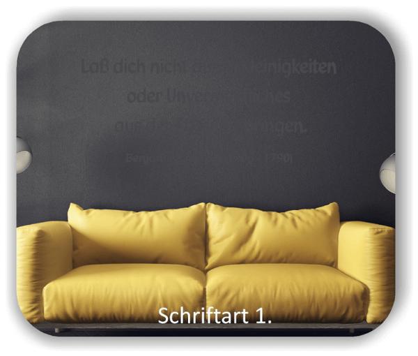 Wandtattoos - Sprüche & Zitate - Laß dich nicht durch...