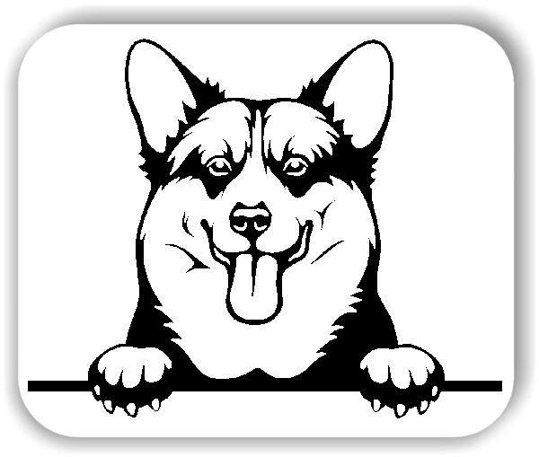 Wandtattoos Tiere - Hunde - Welsh Corgi Pembroke - ohne Rassename