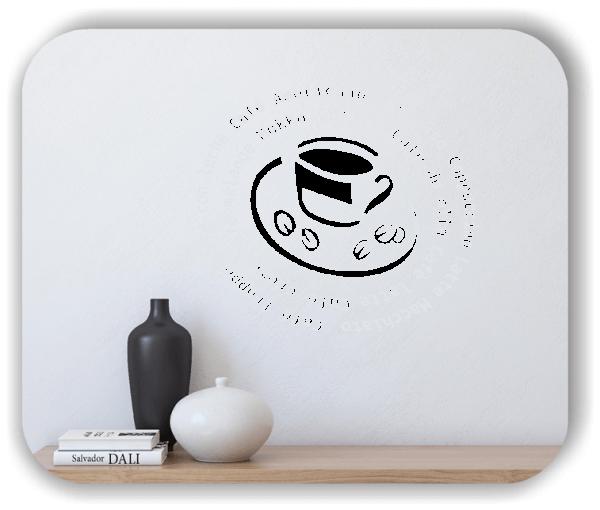 Wandtattoos Spruch Küche - Kaffeeschnecke