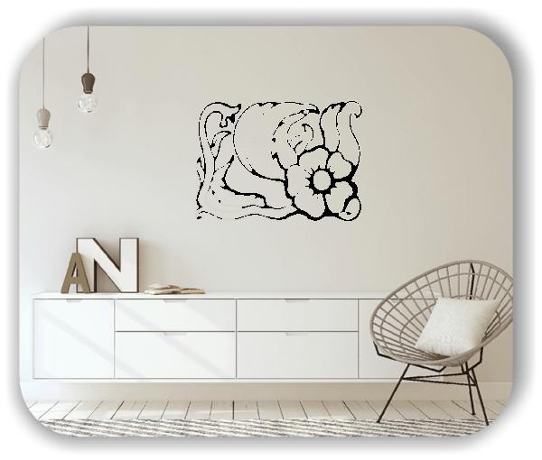 Wandtattoos Ornamente Natur - ab 60 x 43 cm - Motiv 16