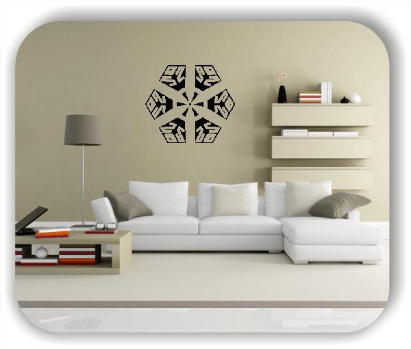 Snowflakes Wandtattoos - Schneeflocke - ab 50x43 cm - Motiv 2570