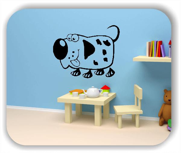 Wandtattoos Tiere - Lustiger Hund