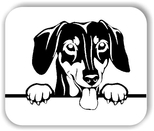 Wandtattoos Tiere - Hunde - Dackel Variante 4 - ohne Rassename