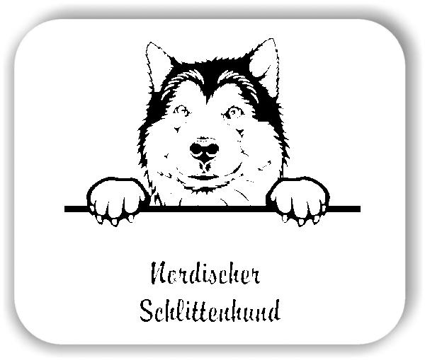 Wandtattoos Tiere - Hunde - Nordischer Schlittenhund