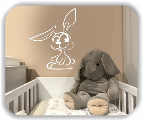 Wandtattoos Tiere - Hase mit Knickohr