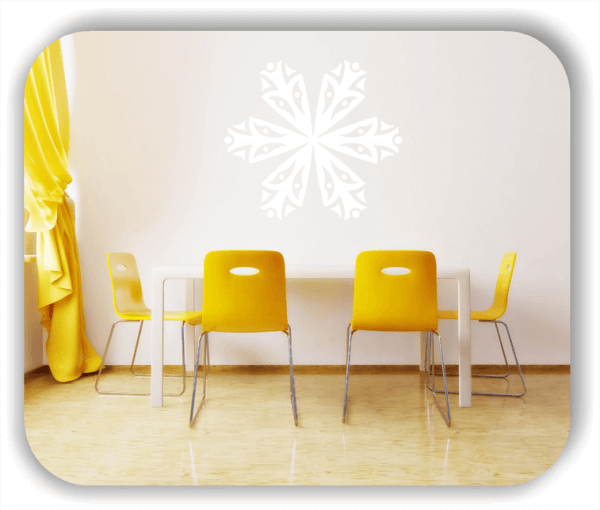 Snowflakes Wandtattoos - Schneeflocke - ab 50x43 cm - Motiv 2567