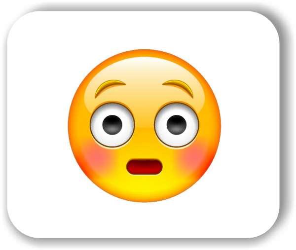 Strichgesicht - Emoticon - Errötetes Gesicht