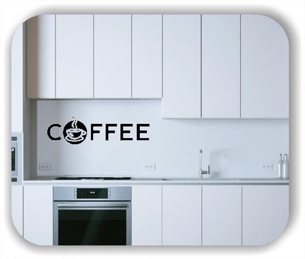 Wandtattoos Spruch Küche - Coffee