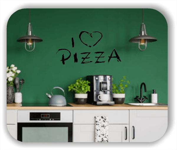 Wandtattoos Spruch Küche - I love Pizza