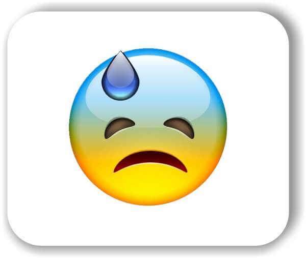 Strichgesicht - Emoticon - Schockiertes, trauriges Gesicht