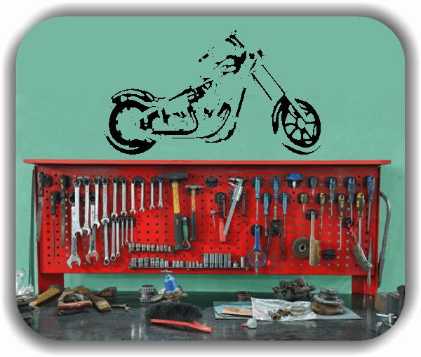 Wandtattoos Fahrzeuge - ab 50x28 cm - Motorrad
