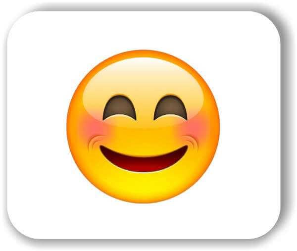 Strichgesicht - Emoticon - Lachendes Gesicht mit lachenden Augen