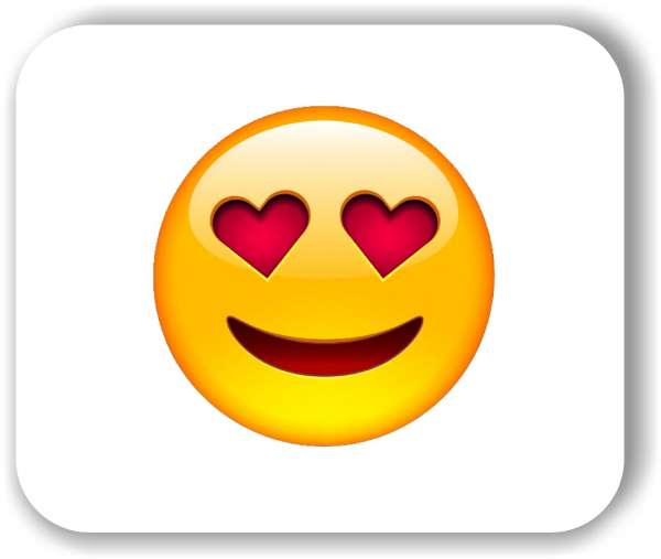 Strichgesicht - Emoticon - Liebes Gesicht mit Herzaugen