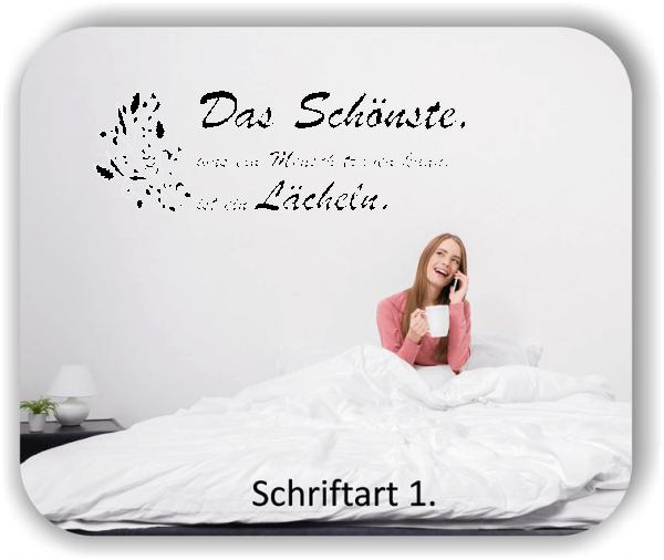 Wandtattoos - Sprüche & Zitate - Das Schönste was ein Mensch...