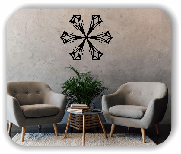 Snowflakes Wandtattoos - Schneeflocke - ab 50x43 cm - Motiv 2577