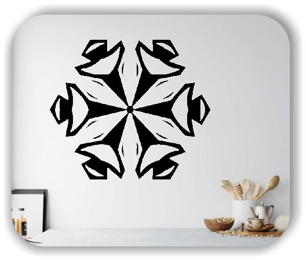 Snowflakes Wandtattoos - Schneeflocke - ab 50x43 cm - Motiv 2588