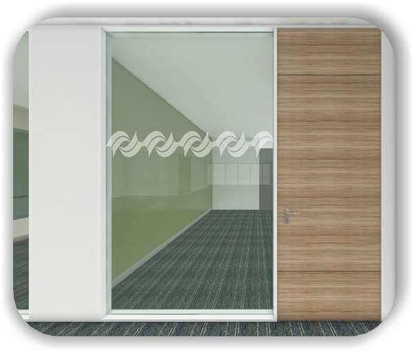 Sichtschutzfolie / Durchlaufschutzfolie - Zuschnitt 20 cm Höhe - Gedrehte Bordüre