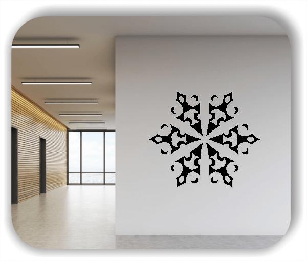 Snowflakes Wandtattoos - Schneeflocke - ab 50x43 cm - Motiv 2589